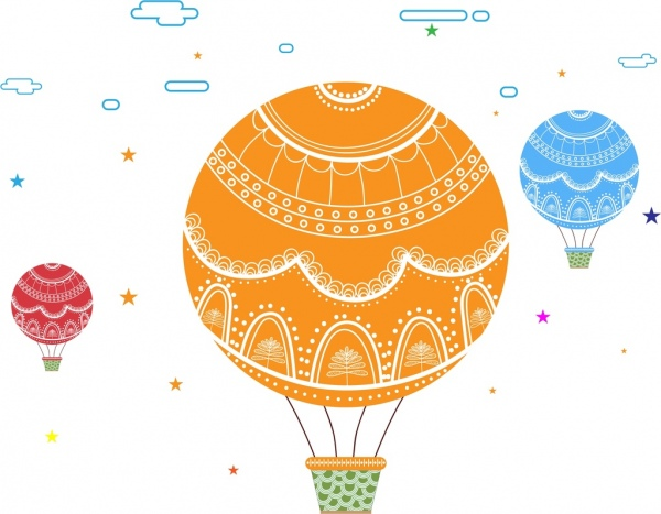 colorful balloon background colorful cartoon style classical decoration