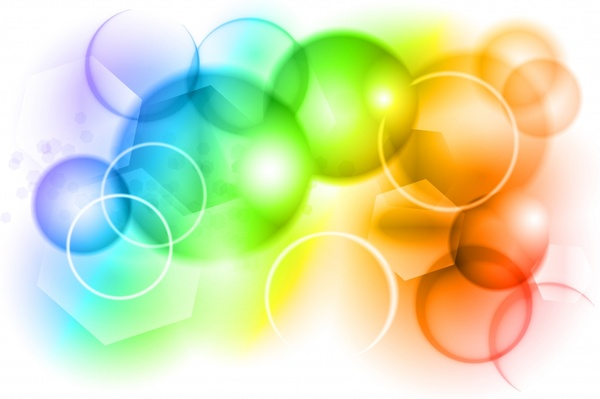 Colorful Bubbles Background Vector Free Vector In