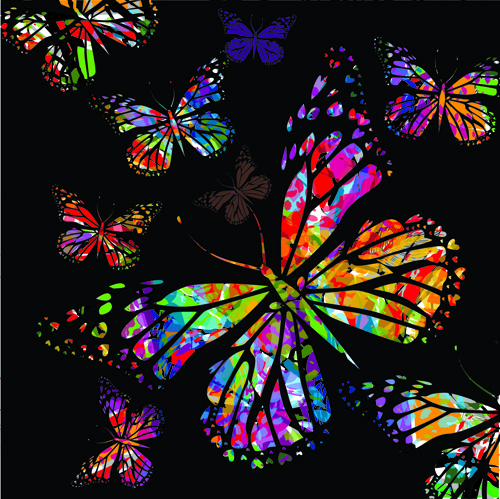 Colorful Butterflies Design Vector Free Vector In Encapsulated
