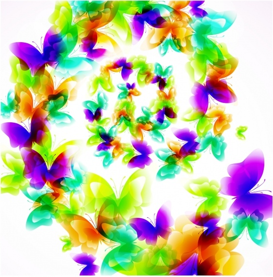 butterflies background modern colorful sparkling decor