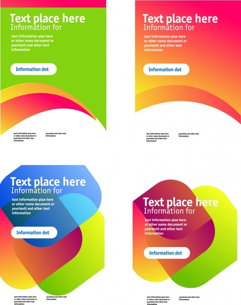 brochure templates modern colorful abstract decor