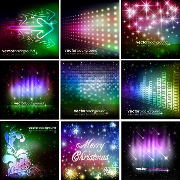 decorative background templates modern colorful sparkling lights decor