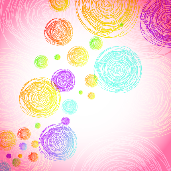 colorful circle abstract background