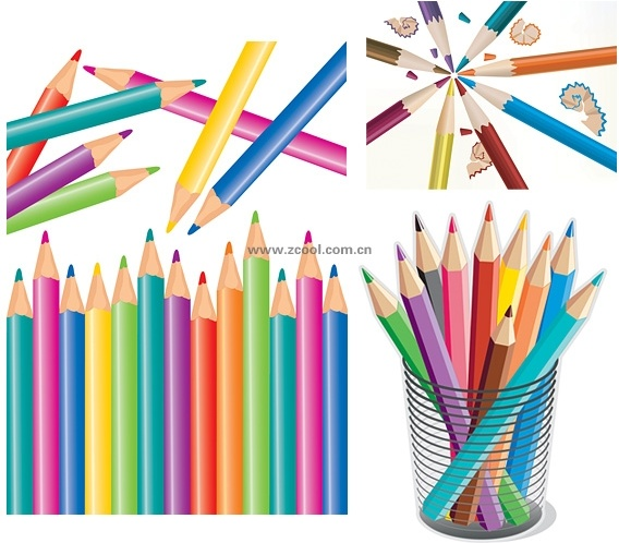 colorful color pencil vector