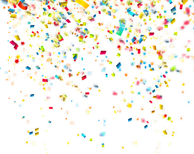 colorful confetti holiday background vector