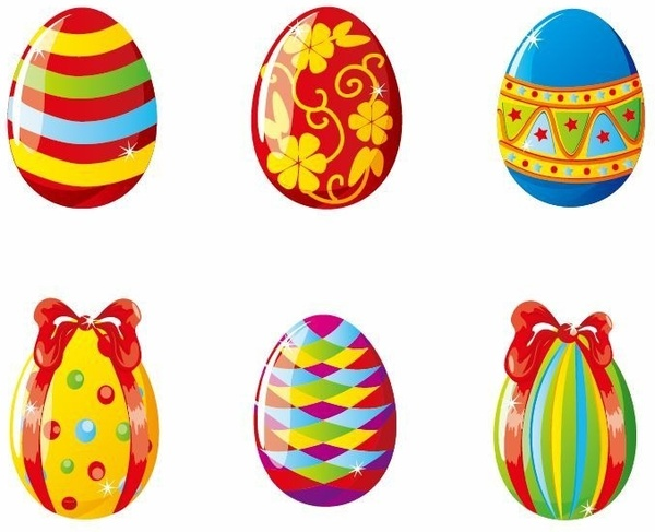 Colorful Easter Eggs Vector Ilration