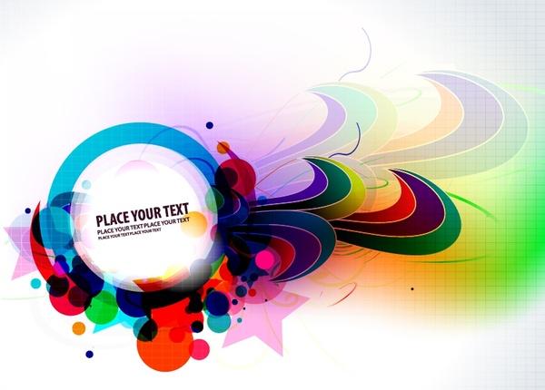 doodle background modern colorful dynamic shapes decor