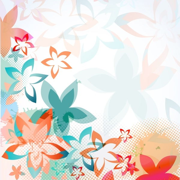 colorful floral background pattern vector