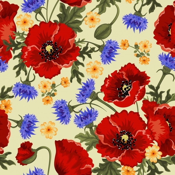 Light Color Flowers Background Free Vector Download