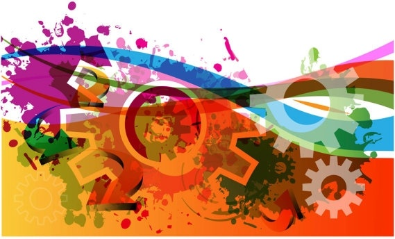 colorful gears background 05 vector