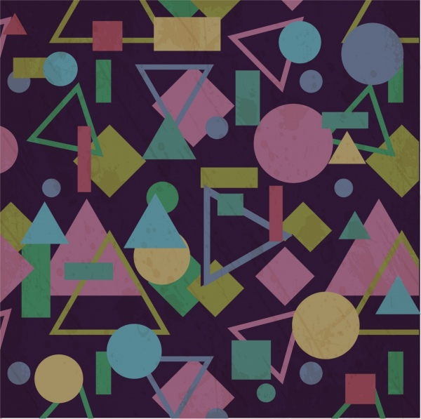 colorful geometric background repeating decoration style