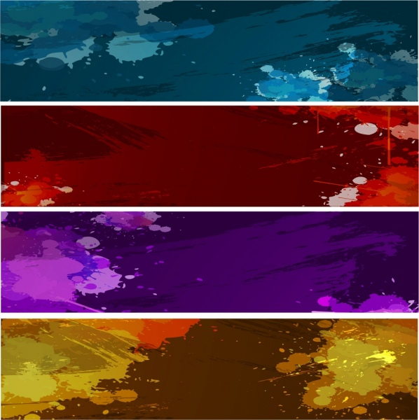 colorful grunge background sets