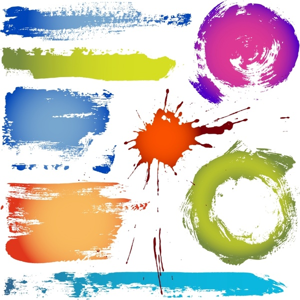 colorful ink vector abstract grunge design