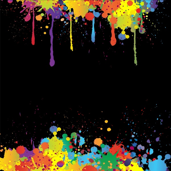 decorative background template colorful grunge inks decor