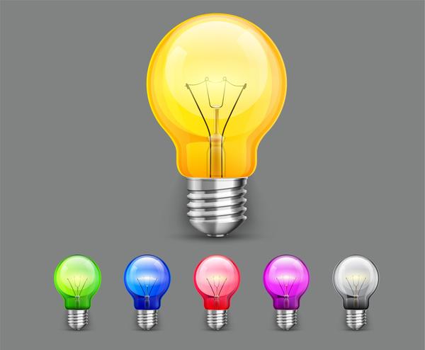 colorful light bulb set