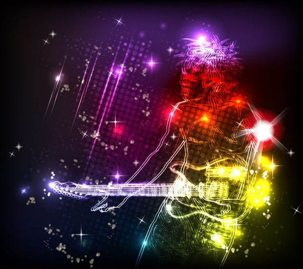 colorful lights background 01 vector