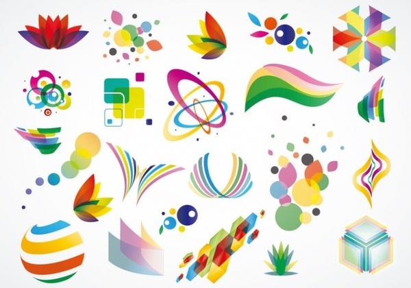 Colorful Logo Design Elements Vector Set