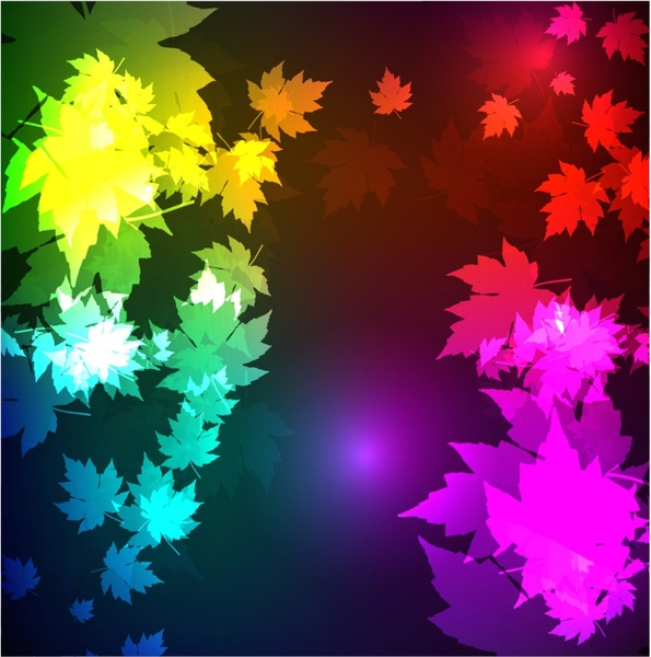 leaves background colorful contrast blurred effect