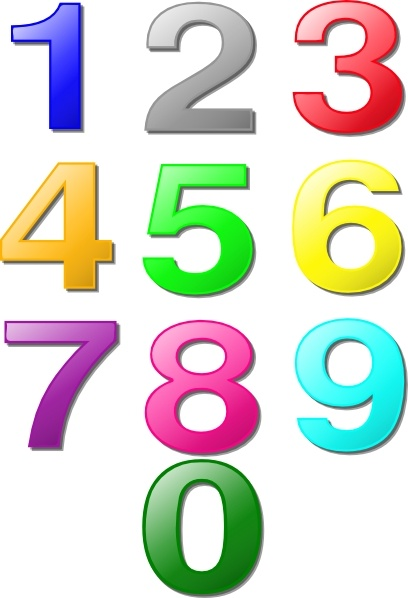 Colorful Numbers clip art