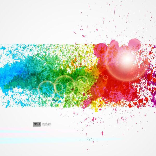 colorful object splash backgrounds vector