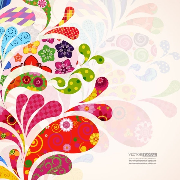 colorful pattern background 04 vector