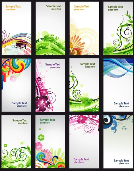 colorful pattern card vector