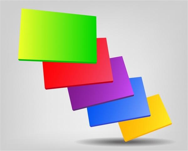 Colorful plates 3D