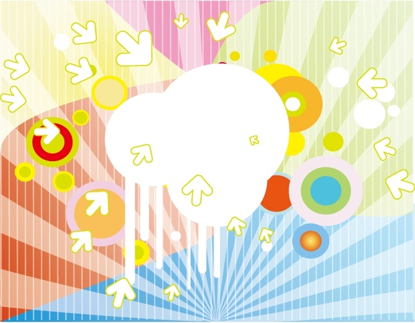 colorful background design circles and arrow decoration