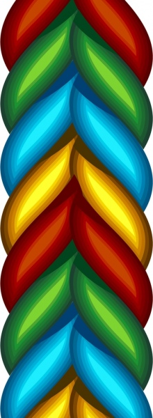 colorful rope icon colorful 3d twist decoration