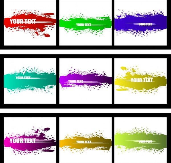 decorative background templates modern colored grunge decor