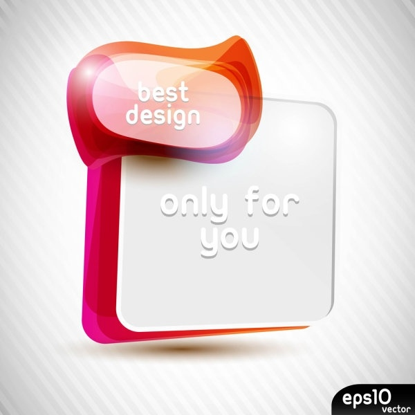 colorful speech bubble 02 vector