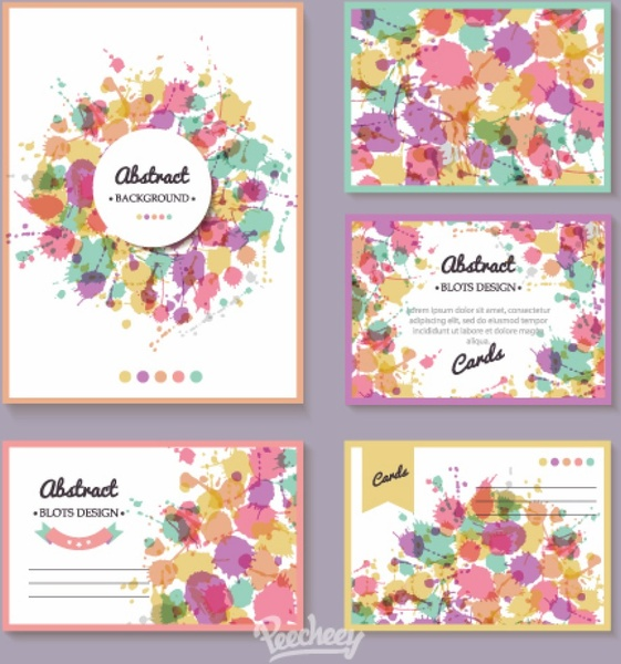 Colorful splash greeting cards free vector in adobe illustrator ai colorful splash greeting cards m4hsunfo