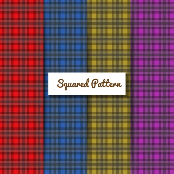 colorful squared pattern background