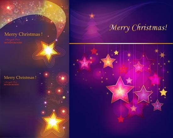 christmas backgrounds sparkling colored stars decor motion design