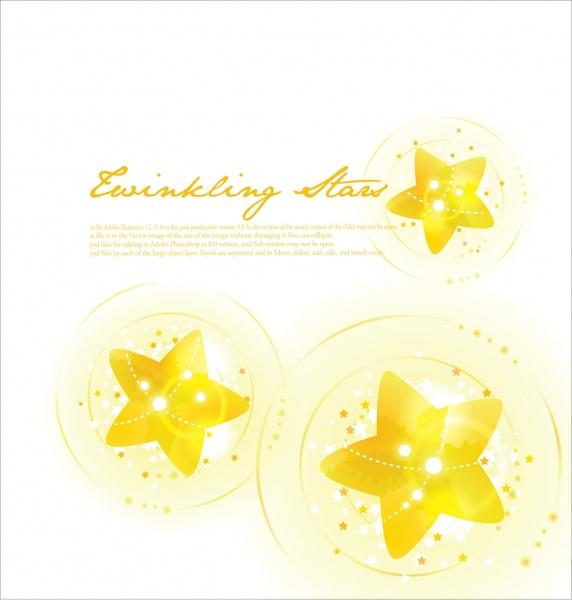 golden stars background bright sparkling modern decor
