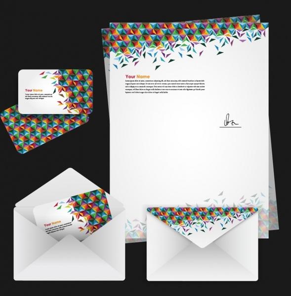 corporate identity decorative templates modern colorful geometric shapes