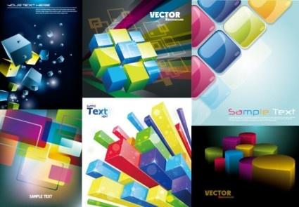 colorful threedimensional art background vector