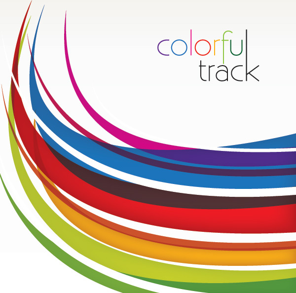 colorful track vector graphic