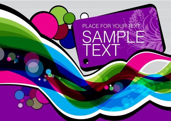 decorative background template colorful dynamic abstract decor