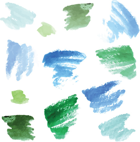 Colorful watercolor ink brushes vector Free vector in Encapsulated