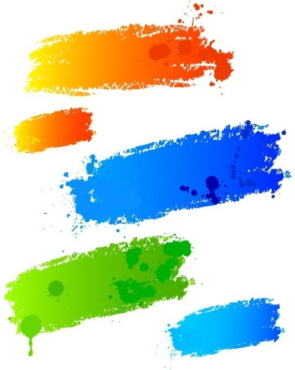 Coloured paint strokes
