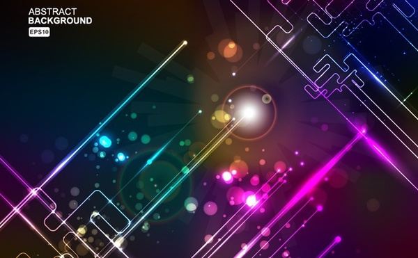 abstract background sparkling light effect