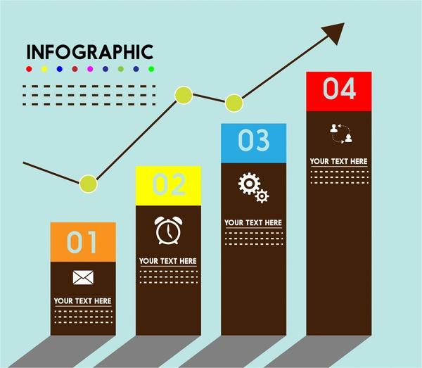 column chart style infographic design