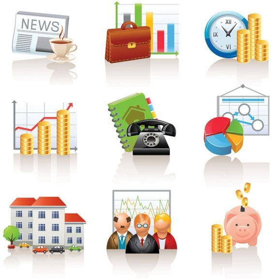 commercial and financial icon vector 1