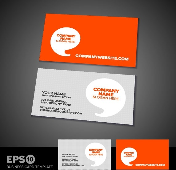 commercial business card template 05 vector