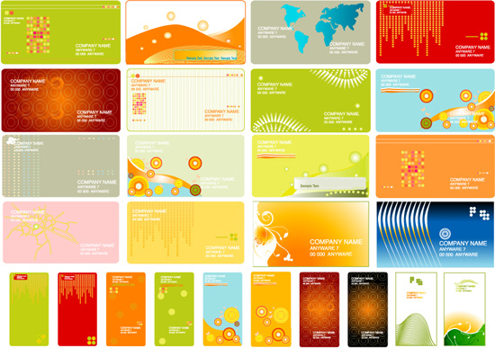 commonly used business card templates vector graphics