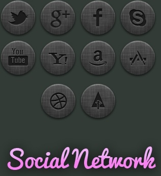 community social network icon psd layered