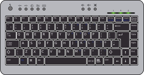 Compact Computer Keyboard Clip Art Free Vector In Open Office Drawing Svg Svg Vector Illustration Graphic Art Design Format Format For Free Download 226 86kb