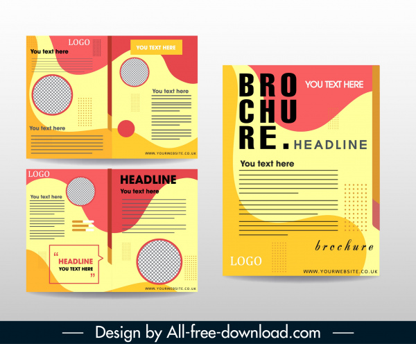 Company Brochure Template Abstract Colorful Modern Decor Free Vector In Adobe Illustrator Ai Ai Format Encapsulated Postscript Eps Eps Format Format For Free Download 1 78mb