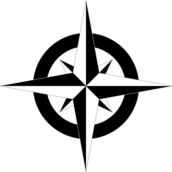 compass rose b w free vector in open office drawing svg svg